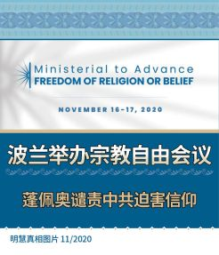 (2020年11月20日) 手机图片:波兰举办宗教自由会议 蓬佩奥谴责中共迫害信仰