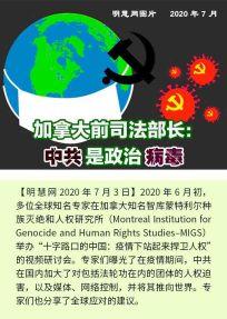 (2020年07月04日) 手机图片和彩信:加拿大前司法部长:中共是政治病毒