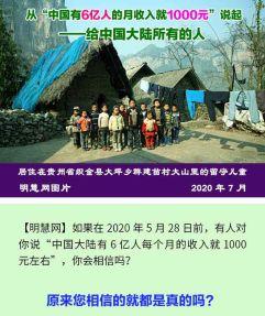 """(2020年07月06日) 手机图片和彩信:从""""中国有6亿人的月收入就1000元""""说起"""